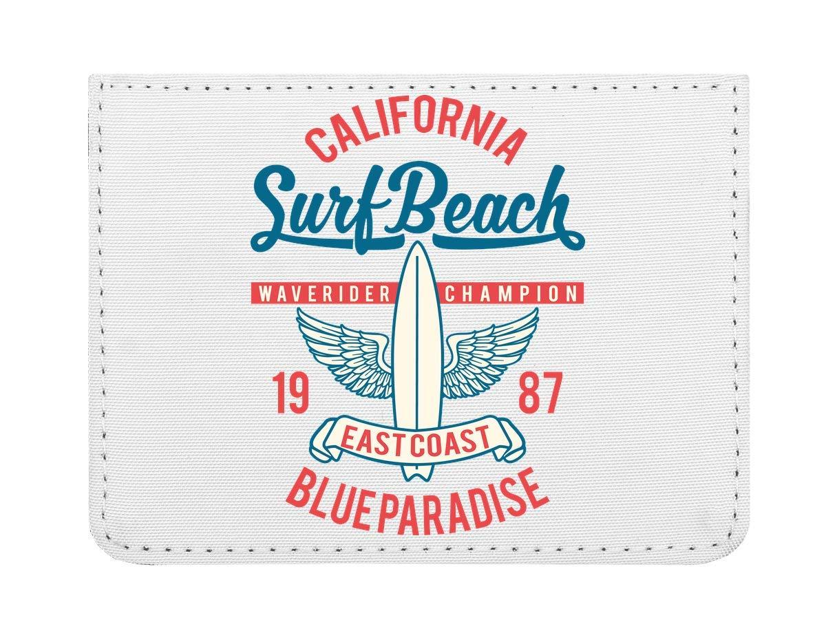 Surf Beach California Waverider Champion Fast Coast Blue Paradise Étui pour Cartes de crédit de Poche