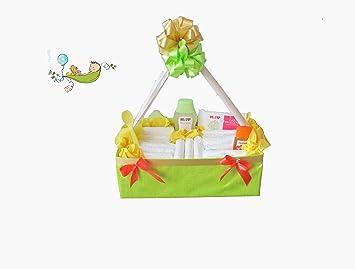 Windeltorte Neutral Windelkörbchen Baby Geschenkset Zur Geburt Taufe