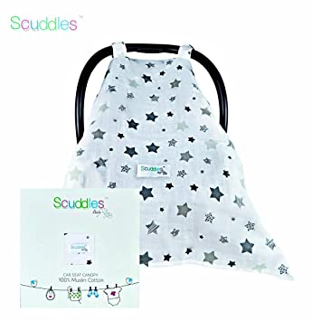 Baby Car Seat Canopy Cover Soft Breathable Trendy Design Protects Your Baby