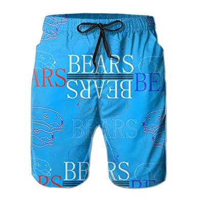 e2af0f96b7 PPANFKEI Plaid Bear Buffalo Stretch Mens Boardshorts Swim Trunks Men  Tropical Basketball Athletic Board Shorts Bathing