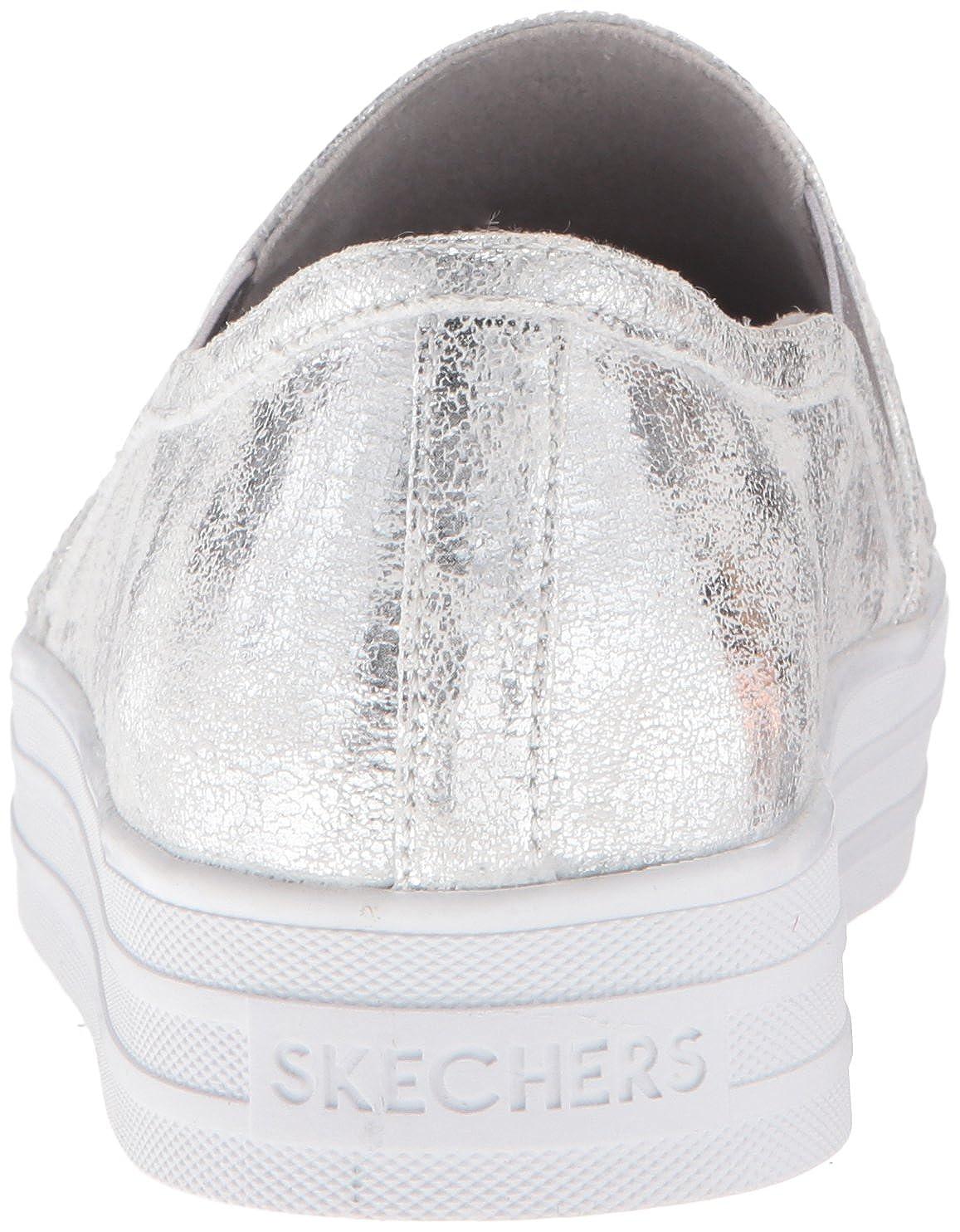 67d208d7ee0d Amazon.com   Skechers Street Women s Double Up Fashion Sneaker   Loafers    Slip-Ons