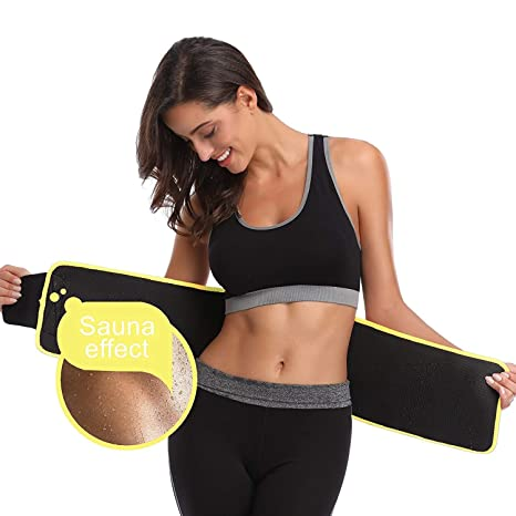 17c7502e2ae4a ADA Waist Trimmer Belt Slimming Neoprene Ab Belt Trainer for Faster Weight  Loss