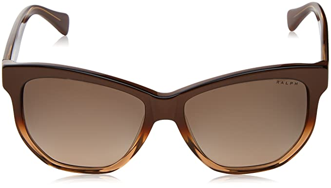 RALPH Womens 0RA5219 1581T5 Sunglasses, Brown Gradient/Brown/Browngradientpolarized, 56 Ralph Lauren