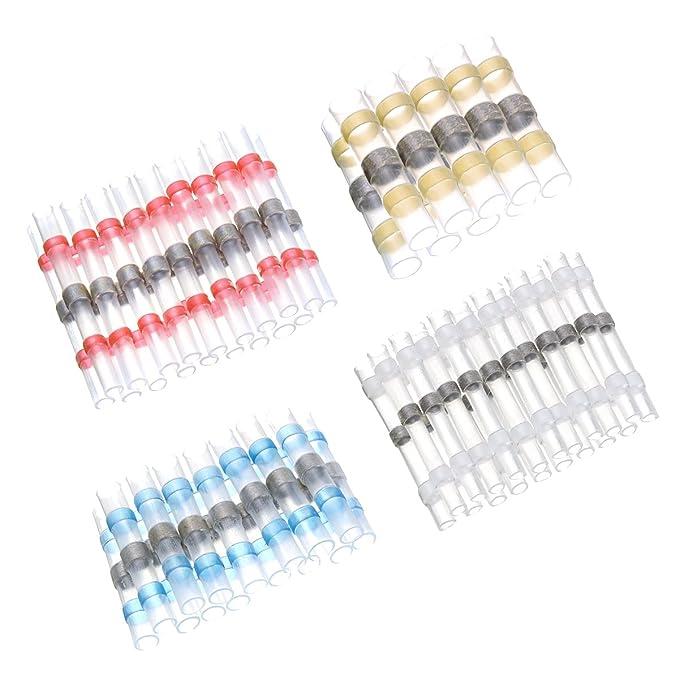 64 opinioni per SOLOOP 50 pezzi Connettori termoretraibili saldanti ,Wire