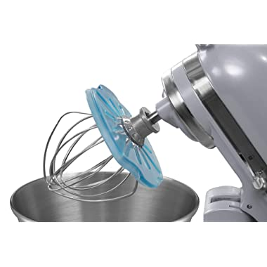 Whisk Wiper PRO for Stand Mixers - Mix Without The Mess - The Ultimate Stand Mixer Accessory - Compatible With Most KitchenAid Stand Mixers (For Tilt-Head Mixers, Glass Blue)