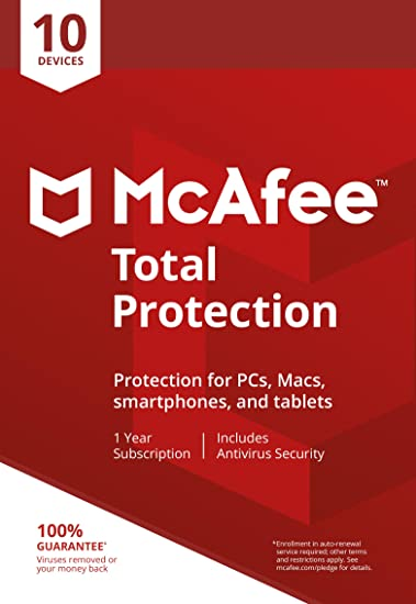 McAfee Total Protection 10 Devices 30 Days Free Trial [Subscription]