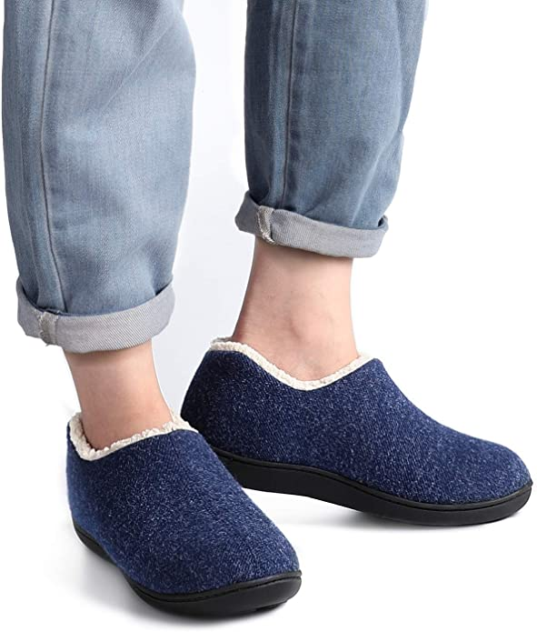 WOMEN'S SUPER COZY MEMORY FOAM FLEECE LINED SLIPPERS! MACHIENE WASHABLE!
