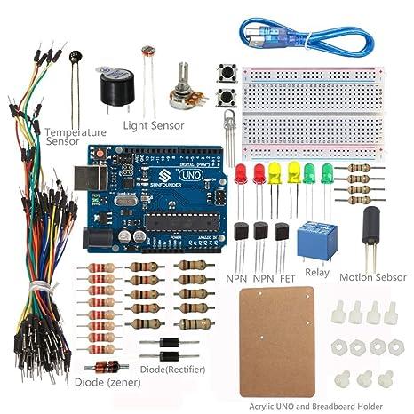 Amazon sunfounder project universal starter kit v20 with new sunfounder project universal starter kit v20 with new uno r3 for arduino starter beginner publicscrutiny Choice Image