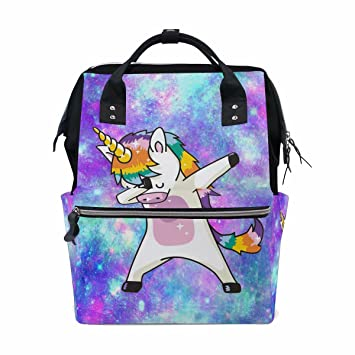 Dab Unicorn Backpack for Girls Large Cute School Backpack Galaxy Bookbag  Wide Open Doctor Style Casual f35056c705ab2