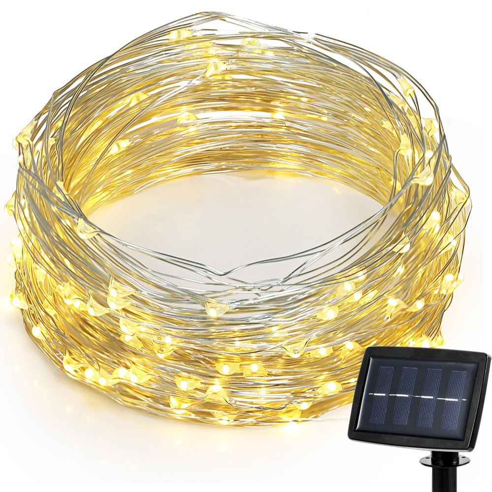 String Lights 150 Led Fairy 72 Feet Solar Powered Starry Panel Wiring Copper Wire Ambiance Light Diy Shape Polychrome Lighting For