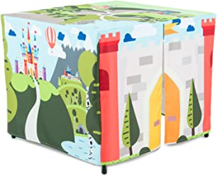 HIDEABOO Hideout Polyester Standard Card Table Cover Kids Fort