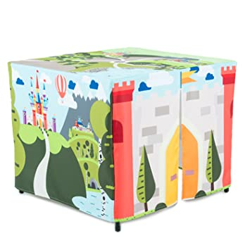 HIDEABOO Hideout Polyester Standard Card Table Cover Kids Fort Enchanted Castle