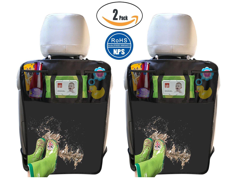 2 Pack Kick Mats Protecteur de siège d'auto, Housse de siège arrière imperméable par Termichy