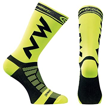 Calcetines Northwave Extreme Light Pro Amarillo Fluor-Negro - Talla: L (44-