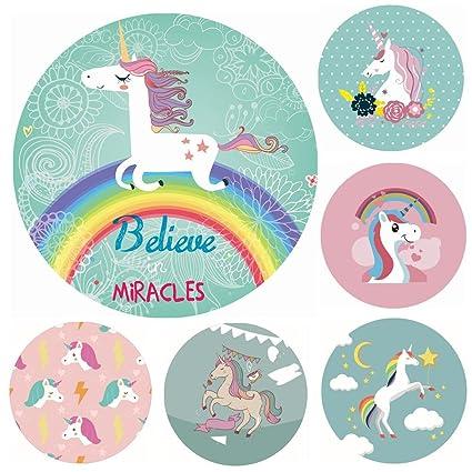 Jspoir Melodiz New Travel Unicorn Microfibra Toallas de Playa Redondas Toalla de Diseño (3)