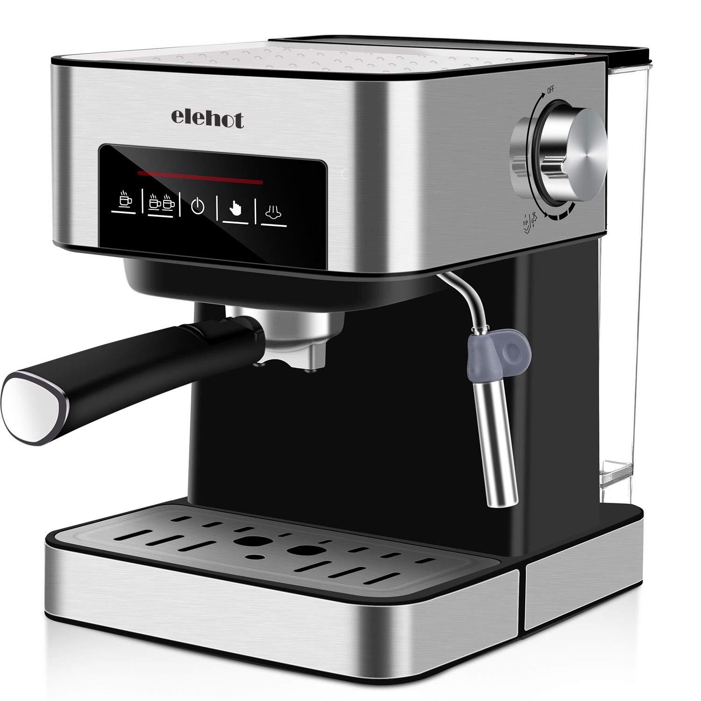 ELEHOT Cafetera Express Cafetera Espresso de Bomba Automática con Boquilla...