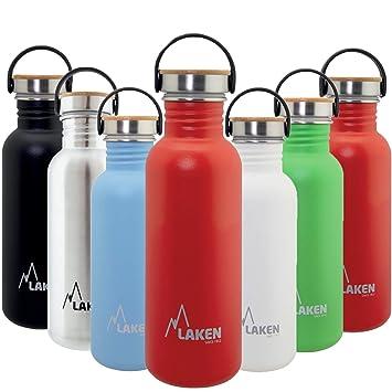 Laken sehr robuste Edelstahlflasche Rot Unisex-Botella de ...