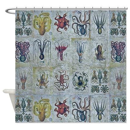 CafePress Octopus And Squid Shower Curtain Decorative Fabric 69quot