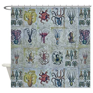 Amazon CafePress Octopus And Squid Shower Curtain