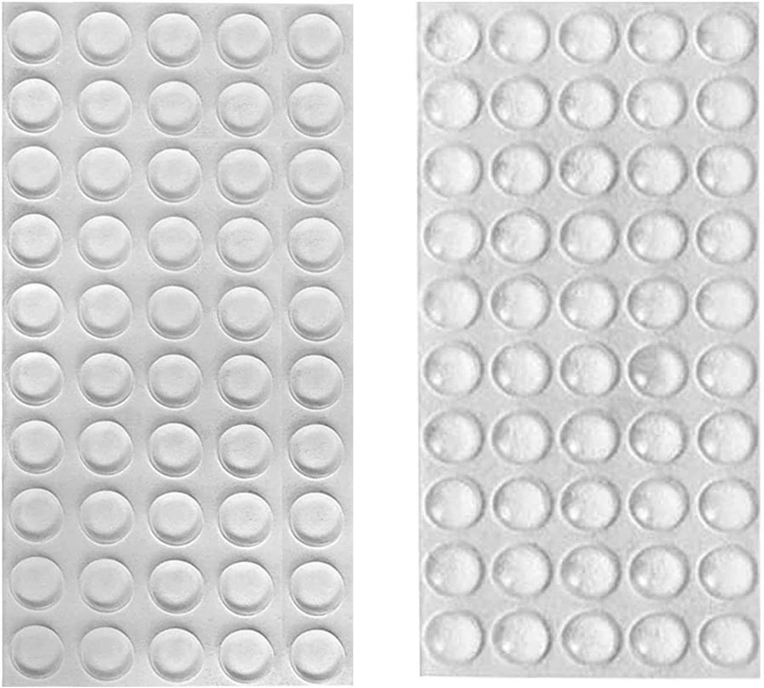 huangzhao Rubber Stoppers Clear Rubber Feet Adhesive Bumper Pads Cabinet Door Bumpers 100PCS Self Stick Bumpers Sound Dampening for Drawers, Glass Tops, Cutting Boards, Picture Frames, Small Furniture