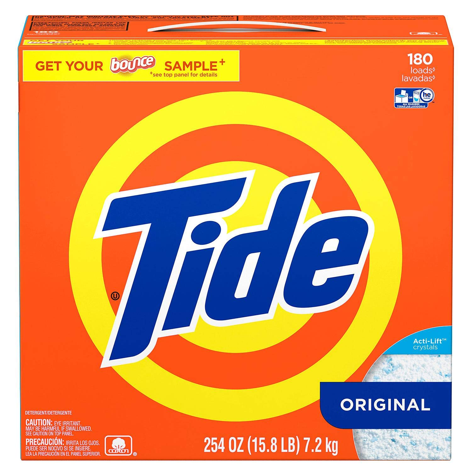 Ultra Tide He Powder Laundry Detergent, Original - 225 Oz. - 160 Loads Ultra he Powder Laundry by Tide