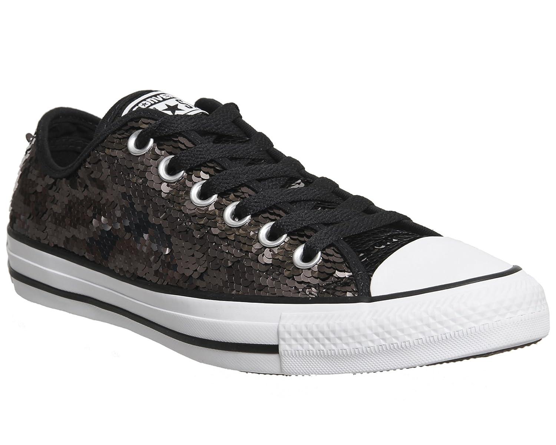 Converse Chuck Taylor Sequin Women's Sneakers B06XJF9ZS3 6 B US|Gunmetal/White/Black