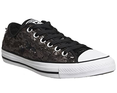 Converse Chuck Taylor All Star Sequin Ox Gunmetal Textile 5 M US Women 107c9ba08
