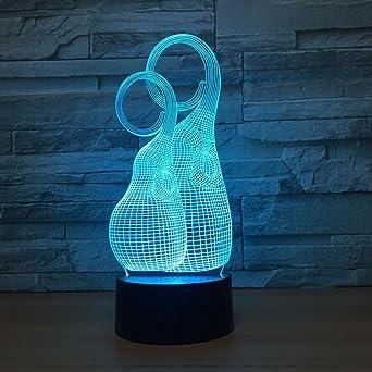 KangYD Extrañas luces nocturnas 3D abstractas, ilusión luz ...