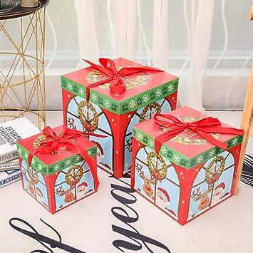 Amazon Christmas Gift Box Set Cute Santas Pattern 3 Pcs Set