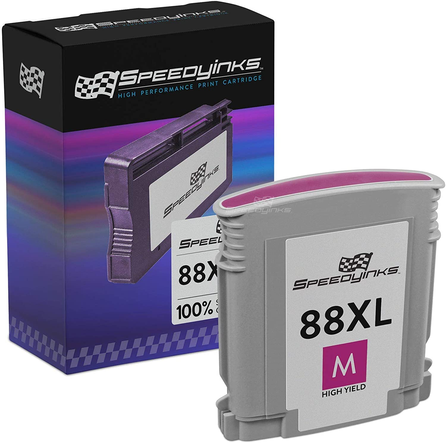 Speedy Inks Remanufactured Ink Cartridge Replacement for HP 88XL C9392AN High Yield (Magenta)