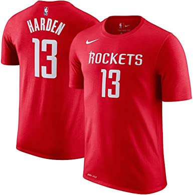 Masaje Lírico comerciante  Amazon.com : NIKE James Harden Houston Rockets Name & Number Performance T- Shirt (Red, XX-Large) : Clothing