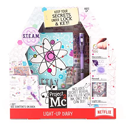 Project Mc2 Light Up Diary With Invisible Ink By Horizon Group Usa Keep Your Secret Diary Journal Safe Under Lock Key Write Using Invisible Ink