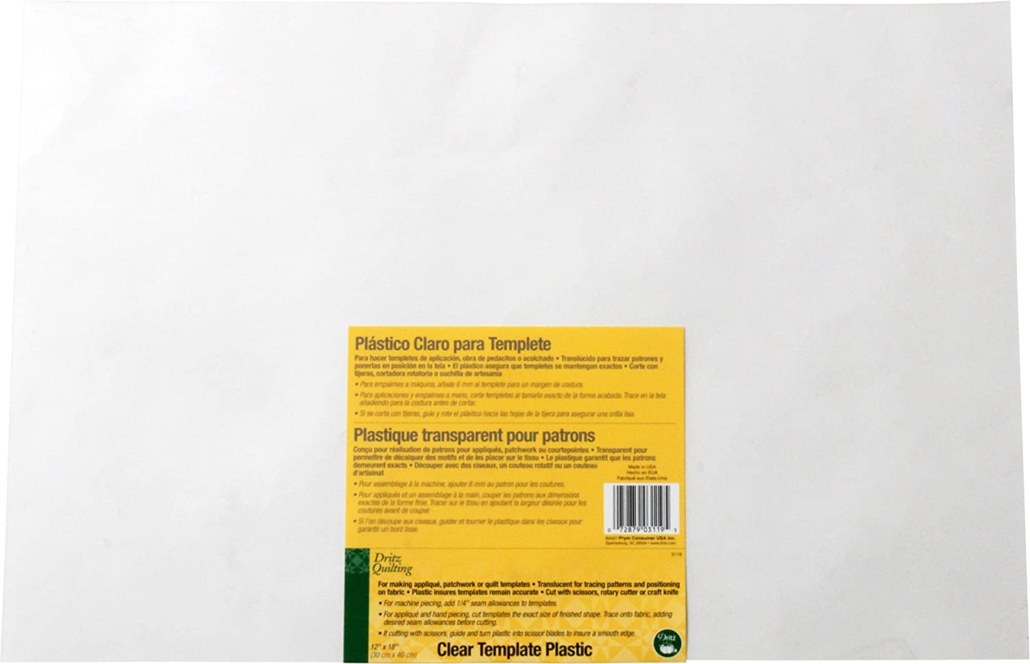 amazoncom dritz quilting clear template plastic