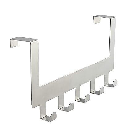 5 Ganchos Anjuer Perchero para Puerta Colgadores de Puerta Aluminio Percha de Ba/ño Gancho de Ba/ño para los dormitorios ba/ños armarios gabinete