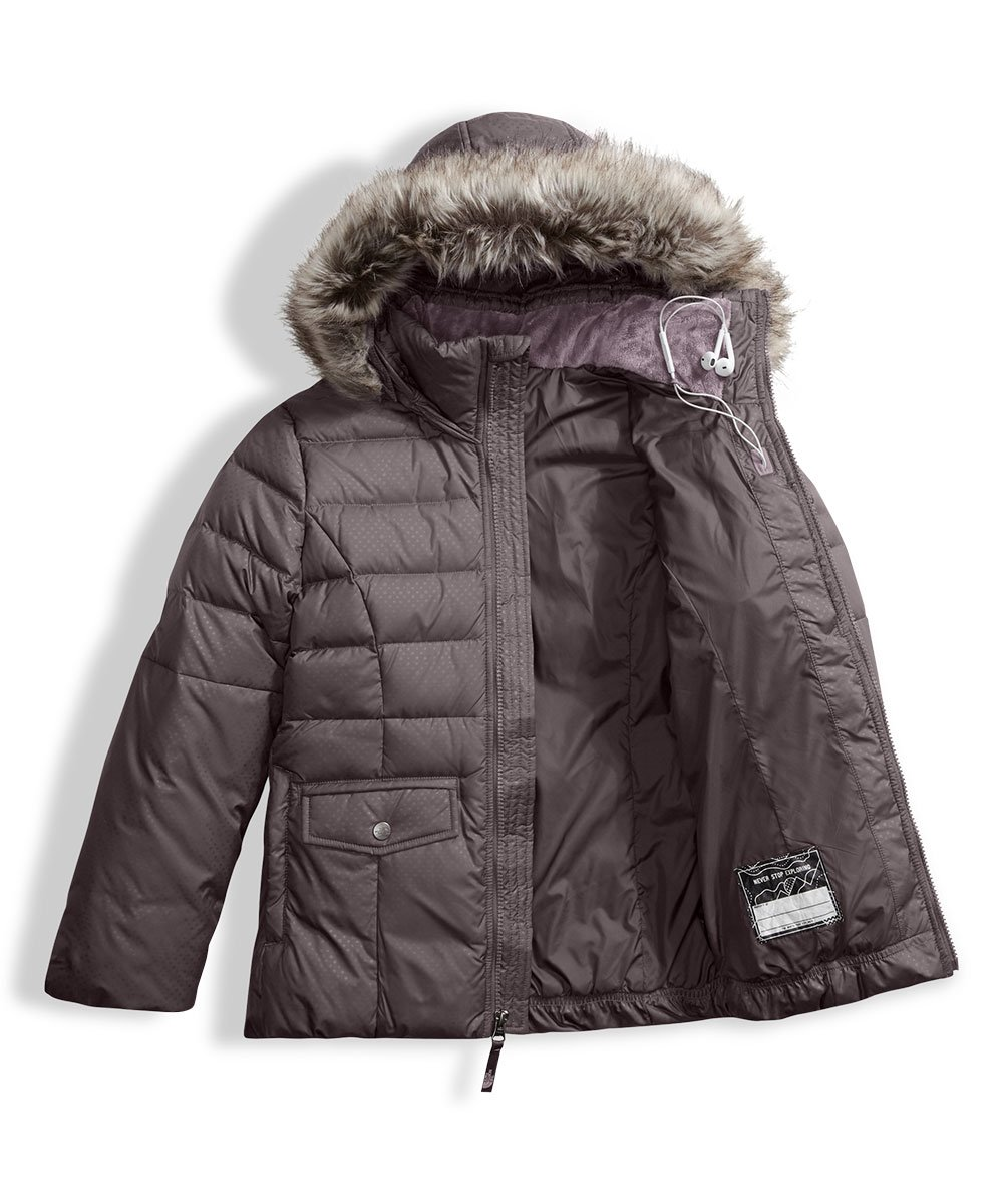 The North Face Big Girls' Gotham 2.0 Down Jacket - rabbit grey, l/14-16 by The North Face (Image #5)