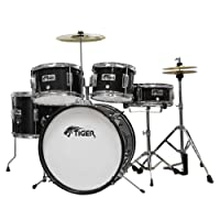 Tiger 5 Piece Junior Drum Kit - Black