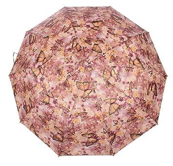 Trade® Triple plegado automático paraguas plegable automático paraguas protección solar anti-UV con des