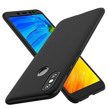 ORETECH Funda Xiaomi Redmi Note 5, Carcasa Redmi Note 5 Case Cover 360 Grados con [2 x Cristal Protector de Pantalla de Vidrio ...