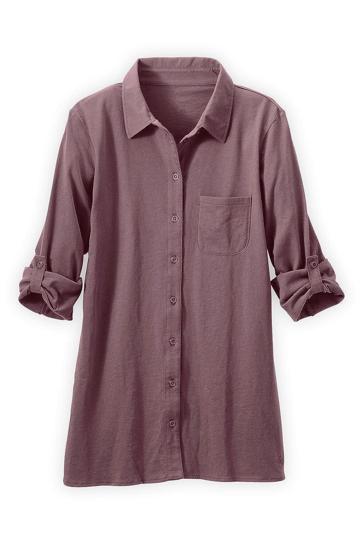 Fair Indigo Fair Trade Organic Relaxed Knit Button Down Shirt