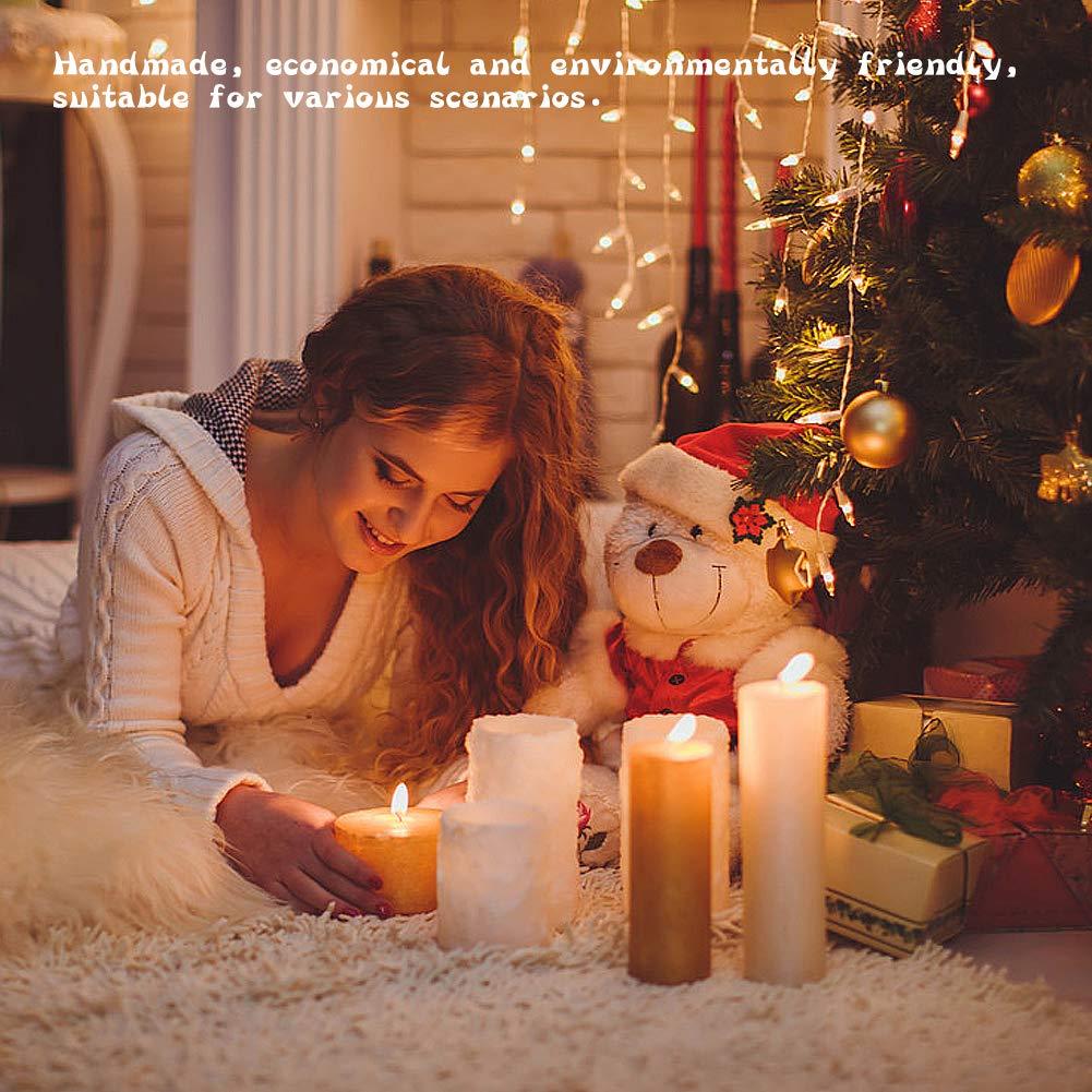 Vegena Flachdocht Kerzendocht Runddocht Teelichtdochte mit Fu/ß Gewachst Kerzendochte Kerzen Dochte Candle Wick f/ür Kerzenherstellung Kerze DIY 200 St/ück Gie/ßen 9 cm