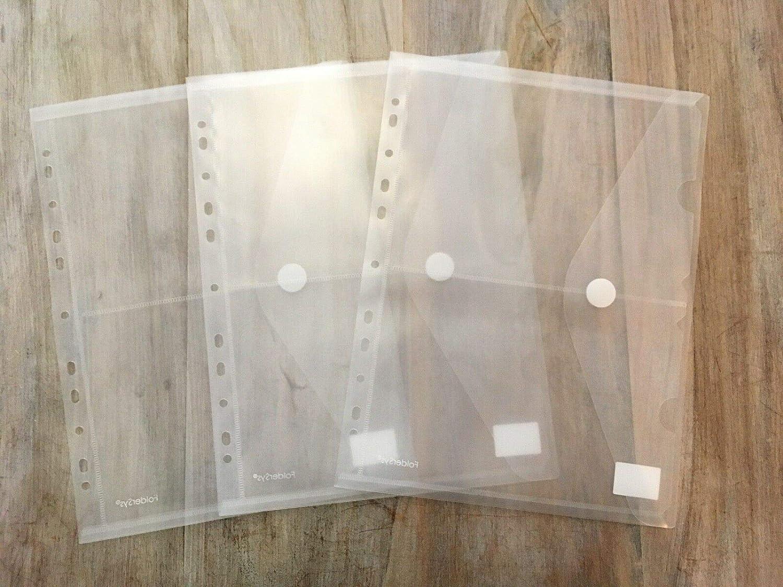 Simplelettering 3X Sichttasche A4 mit A5 F/ächern zur Aufbewahrung Stanzschablonen Cutting Dies