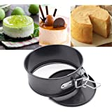 "iPstyle Non Stick Round Springform Cake Pan 5 Inch Springform Pan Cheesecake Pan Leakproof Cake Pan Bakeware Loose Base Cake Baking Tin Interlocking Bakeware (Round - 5"" 12.5CM)"