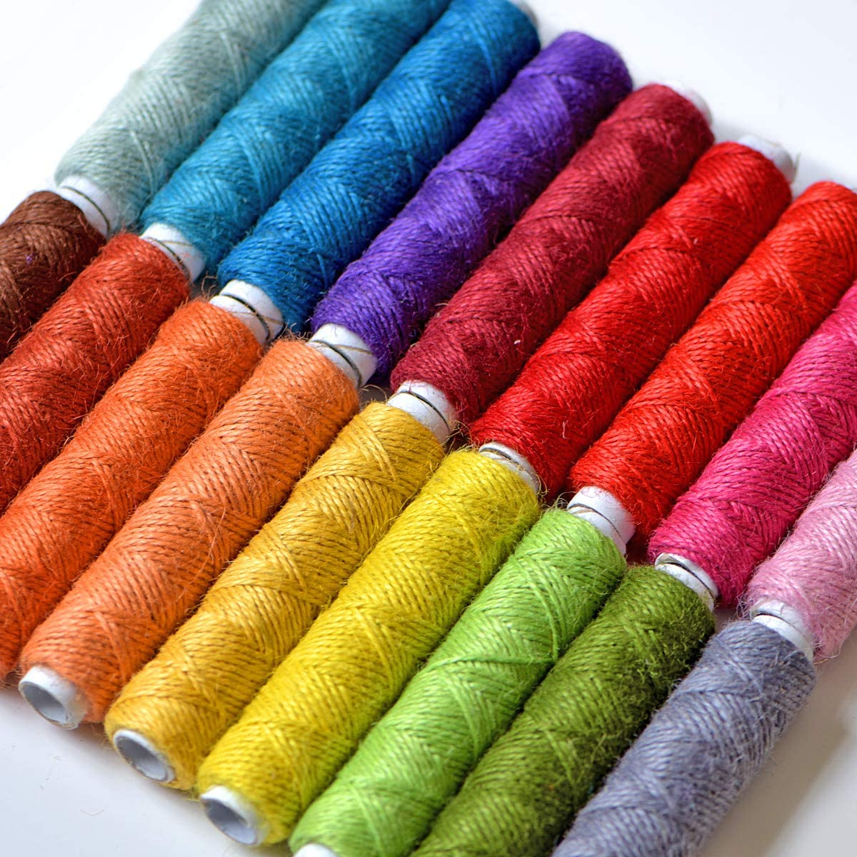 535 Yards Jute Twine- Thick Jute String Rope-Natural Garden Twine-2mm Jute Twine String Hemp Rolls 18 Colors,1605 Feet Gifts DIY Crafts Each for Gardening Decoration Bundling