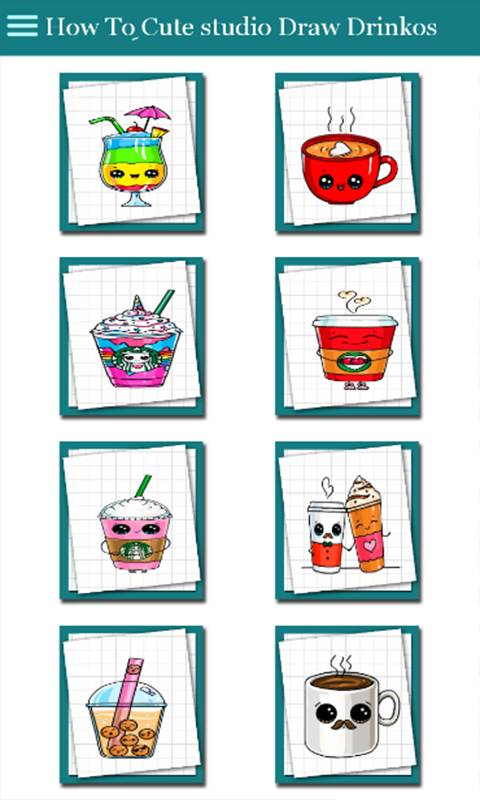 Amazon Com How To Cute Studio Drawing Cute Drinkos Appstore For Android