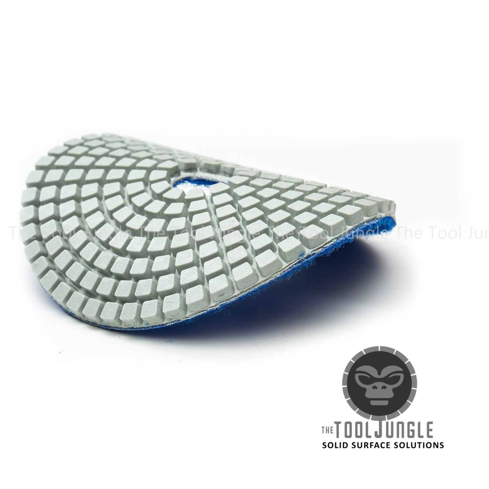 Diamond Polishing Pads 4 inch Wet/Dry 8 Piece Set Granite Stone Concrete Marble (Set with Preium Backer)