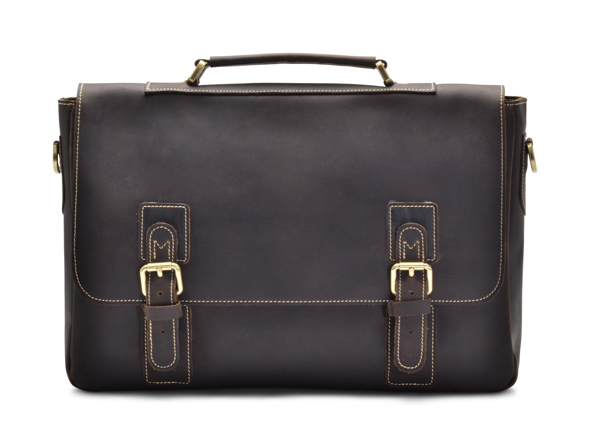Hølssen Satchel Briefcase Messenger 15'' Laptop Genuine Leather Men Bag by Hølssen