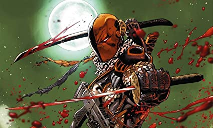 Posterhouzz Comics Deathstroke DC Batman HD Wallpaper Background Fine Art Paper Print Poster