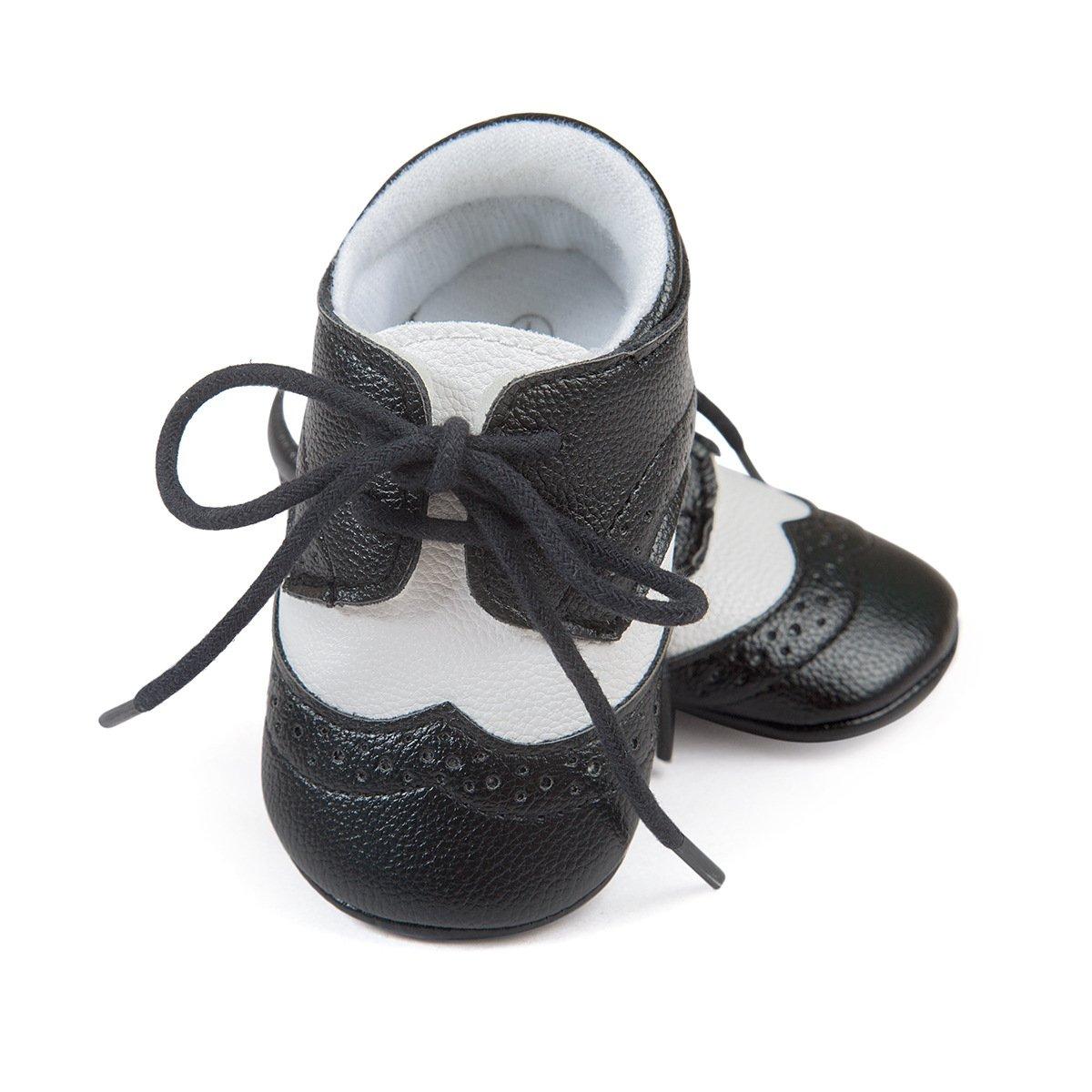 ESTAMICO Baby Jungen PU Schn/ürsenkel Lauflernschuhe Braun 0-6 Monate