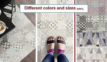 Tapis PVC Carreaux Ciment Tapis En PVC Différentes Tailles - Carrelage cuisine et vente tapis