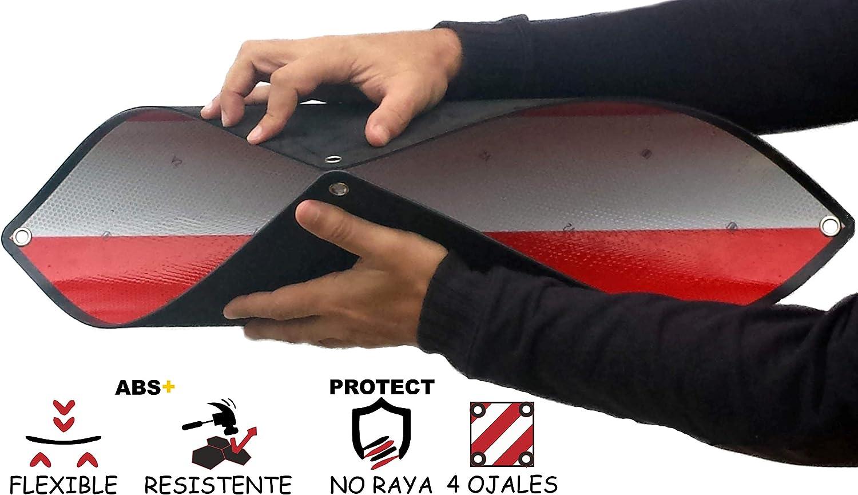 MAGMA Señal V20 Homologada, Placa V20 Portabicicletas y Carga Saliente, Panel V-20 Plástico ABS, Flexible y con Protección Anti Arañazos Protege tu Bicicleta o Bici NO Raya